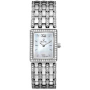Bulova® Womens Silver-Tone Crystal-Accent Watch 96L157