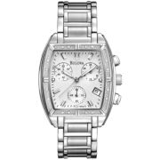 Bulova® Womens Diamond-Accent Chronograph Watch 96R163