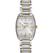 Bulova® Womens Two-Tone Diamond-Accent Watch