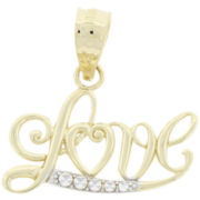 14K Gold Love Pendant
