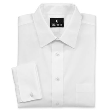 jcpenney.com | Stafford® Executive Non-Iron Cotton Pinpoint French Cuff Oxford Shirt