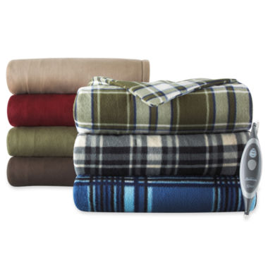 jcpenney.com | Sunbeam® Heated Fleece Throw