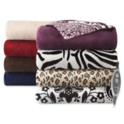 Sunbeam® Heated Plush Throw