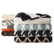 JCPenney Home™ Velvet Plush Print Throw