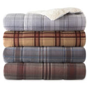 JCPenney Home Cozy Spun Down-Alternative Plaid Throw