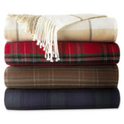 JCPenney Home Plaid Acrylic Throw
