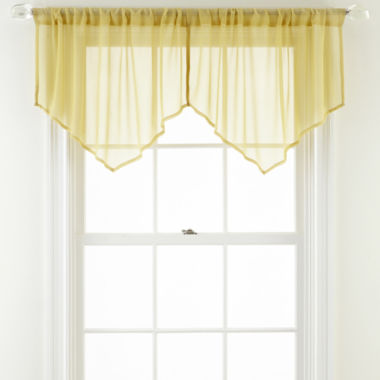 jcpenney.com | MarthaWindow™ Airy Sheer Ascot Valance
