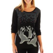 Long-Sleeve Halloween Graphic Tee
