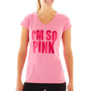Xersion™ Breast Cancer Awareness V-Neck Graphic Tee