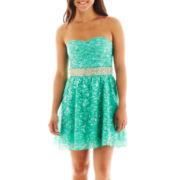 My Michelle Sequin Lace Dress