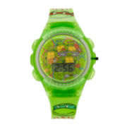 Teenage Mutant Ninja Turtles Kids LCD Dial Green Strap Digital Watch