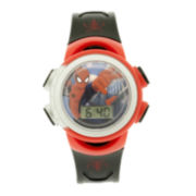 Marvel® Spider-Man® Kids LCD Dial Black Strap Digital Watch
