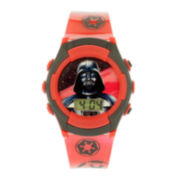 Star Wars® Darth Vader Kids Red and Black Strap LCD Digital Watch