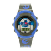 Star Wars® R2-D2 Kids Gray and Blue Strap LCD Digital Watch