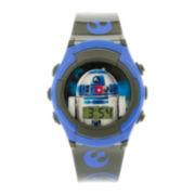 Star Wars® R2-D2 Kids Gray and Blue Strap LCD Digital Watch