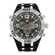 U.S. Polo Assn.® Mens Black Silicone Strap Analog/Digital Watch