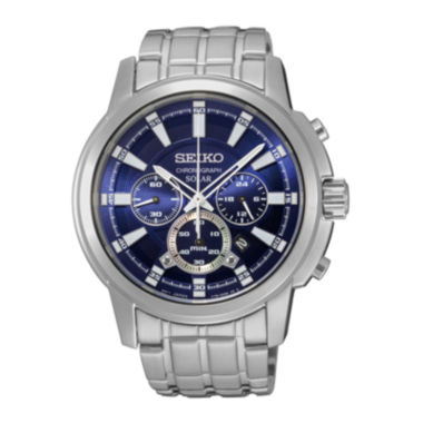 jcpenney.com | Seiko® Mens Solar Stainless Steel Chronograph Sport Watch SSC387