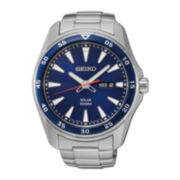 Seiko® Mens Stainless Steel Solar Watch SNE391