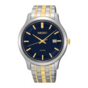 Seiko® Mens Two-Tone Stainless Steel Sport Watch SUR181