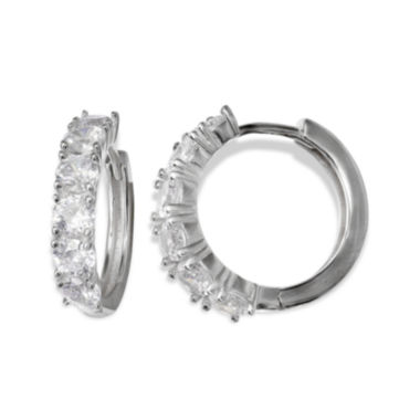 jcpenney.com | Silver Enchantment™ Cubic Zirconia Sterling Silver 19mm Huggie Hoop Earrings