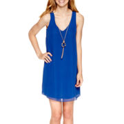 by&by Sleeveless A-Line Necklace Dress