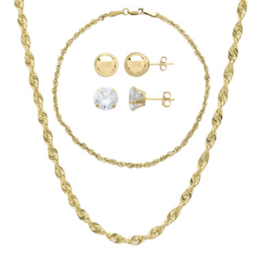 jcpenney.com | 10K Yellow Gold 4-pc. Jewelry Set