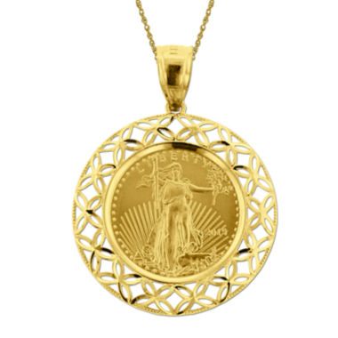 jcpenney.com |  14K Yellow Gold 1/10 oz. Liberty Dollar Coin Pendant Necklace