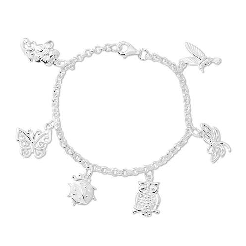 Sterling Silver Critter Charm Bracelet