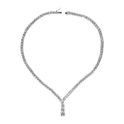 CZ by KENNETH JAY LANE Cubic Zirconia Y Necklace