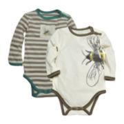 Burt's Bees Baby™ 2-pk. Bee Bodysuits - Baby Boys 3m-12m