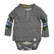 Burt's Bees Baby™ Camo Henley Bodysuit - Baby Boys 3m-24m