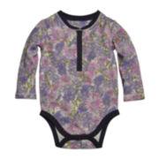 Burt's Bees Baby™ Floral Henley Bodysuit - Baby Girls 3m-12m