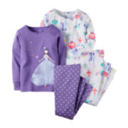 Carter's® 4-pk. Fairy Tale Pajama Set - Baby Girls newborn-24m