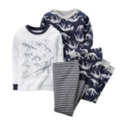 Carter's® 4-pc. Dinosaur Pajama Set - Preschool Boys 4-7