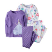 Carter's® 4-pk. Fairy Tale Pajama Set - Preschool Girls 4-7
