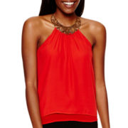 XOXO® Sleeveless Necklace Halter Top