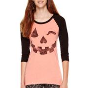 Raglan-Sleeve Halloween T-Shirt