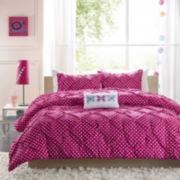 Mi Zone Sophia Polka Dot Ruched Comforter Set