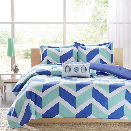 Mi Zone Julie Chevron Comforter Set