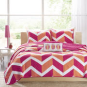 Mi Zone Jessie Chevron Coverlet Set