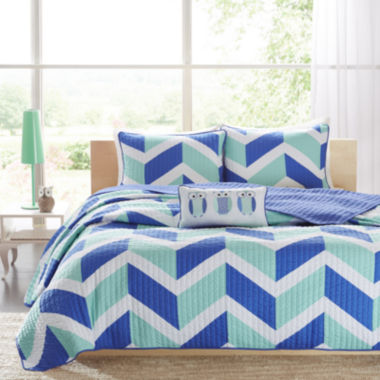 jcpenney.com | Mi Zone Julie Chevron Coverlet Set