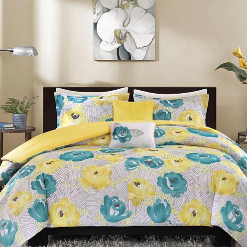 Intelligent Design Mila Floral Duvet Cover Set