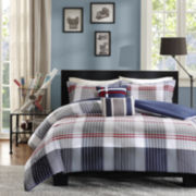 Intelligent Design Harper Plaid Duvet Cover Set