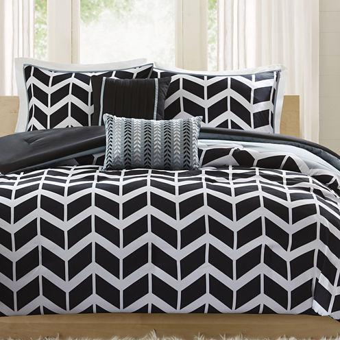 Intelligent Design Piper Reversible Chevron Comforter Set