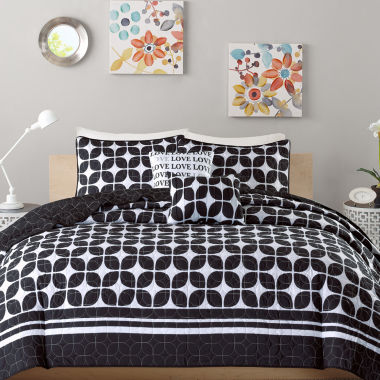 jcpenney.com | Intelligent Design Jillian Coverlet Set