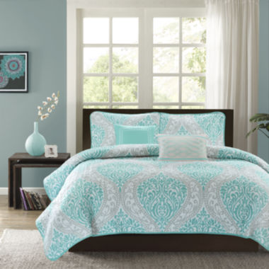 jcpenney.com | Intelligent Design Lilly Coverlet Set