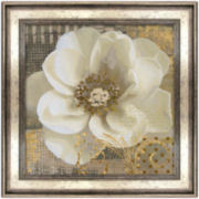 White Flower Framed Wall Art