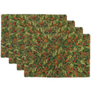 Park B. Smith® Holly Christmas Set of 4 Placemats