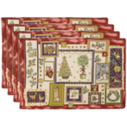 Park B. Smith® Holly Scrapbook Set of 4 Placemats