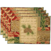 Park B. Smith® Pinecone Collage Set of 4 Placemats